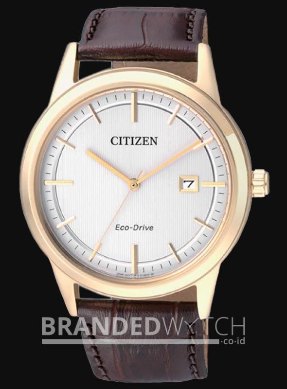 ... Citizen AW1233-01A Eco Drive Dark Brown Gold fc131f2c03
